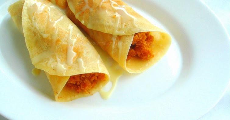 Priya's Versatile Recipes: Patishapta - A Bengali Sweet Crepe