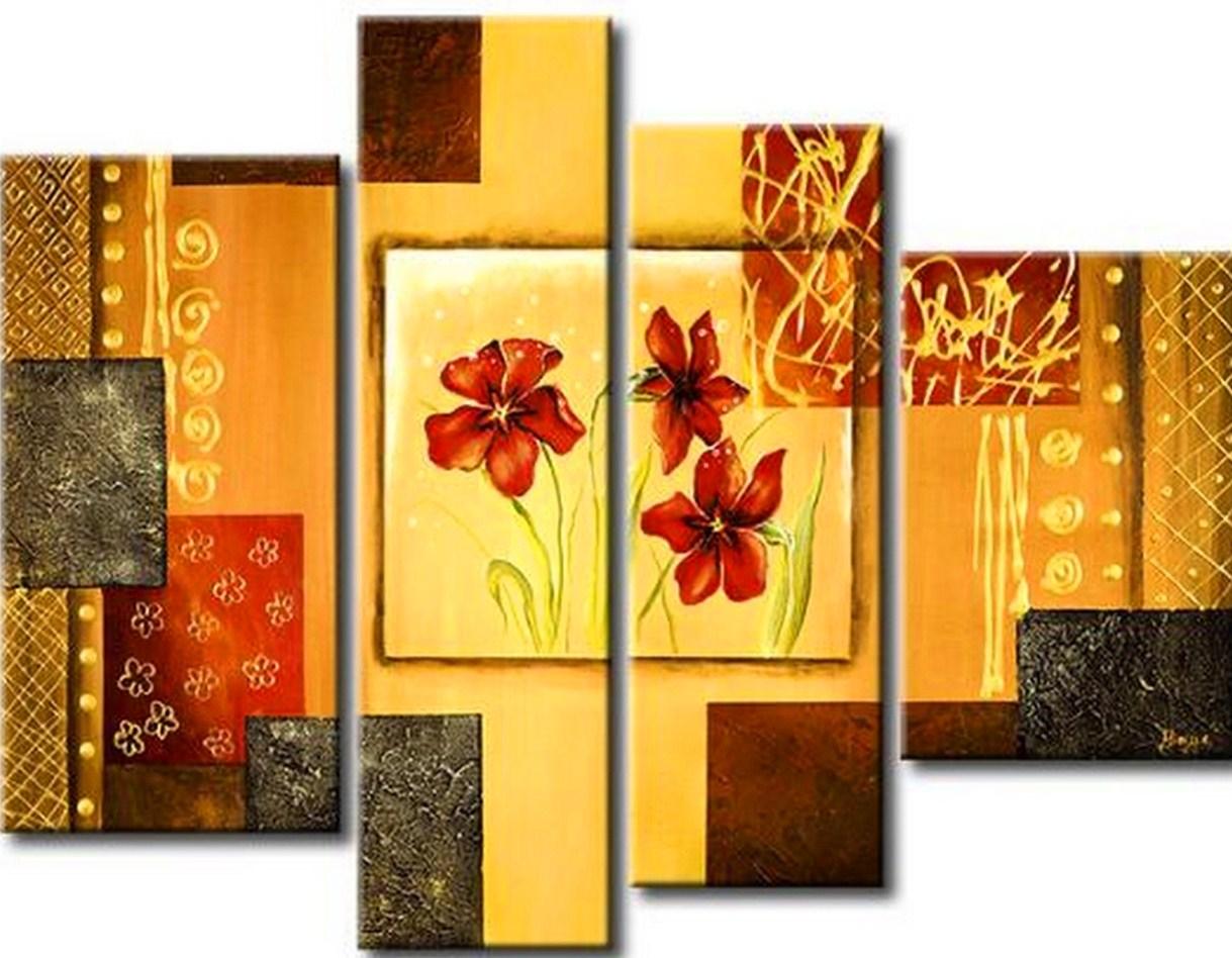 Im genes arte pinturas cuadros con flores modernos for Imagenes de cuadros abstractos faciles de hacer
