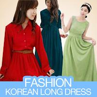 Fashion Korean Long Dress