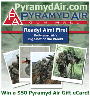 Pyramyd Airsoft Facebook Page, Big Shot of the Week, Win $50, Win Fifty Bucks, Free Gift Card, Pyramyd Airsoft Blog, Pyramyd Airsoft Youtube Channel, Tom Harris Media, Tominator, Airsoft Guns,