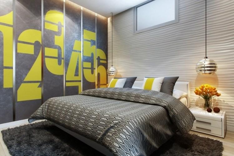 Dormitorios en amarillo y gris dormitorios colores y estilos for Cuarto negro con gris