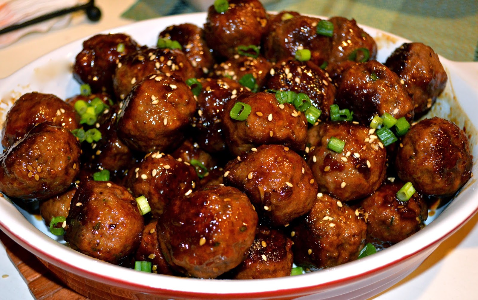 kiss my apron hoisin teriyaki meatballs