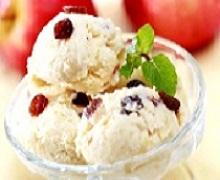 Resep membuat es krim apel kismis segar