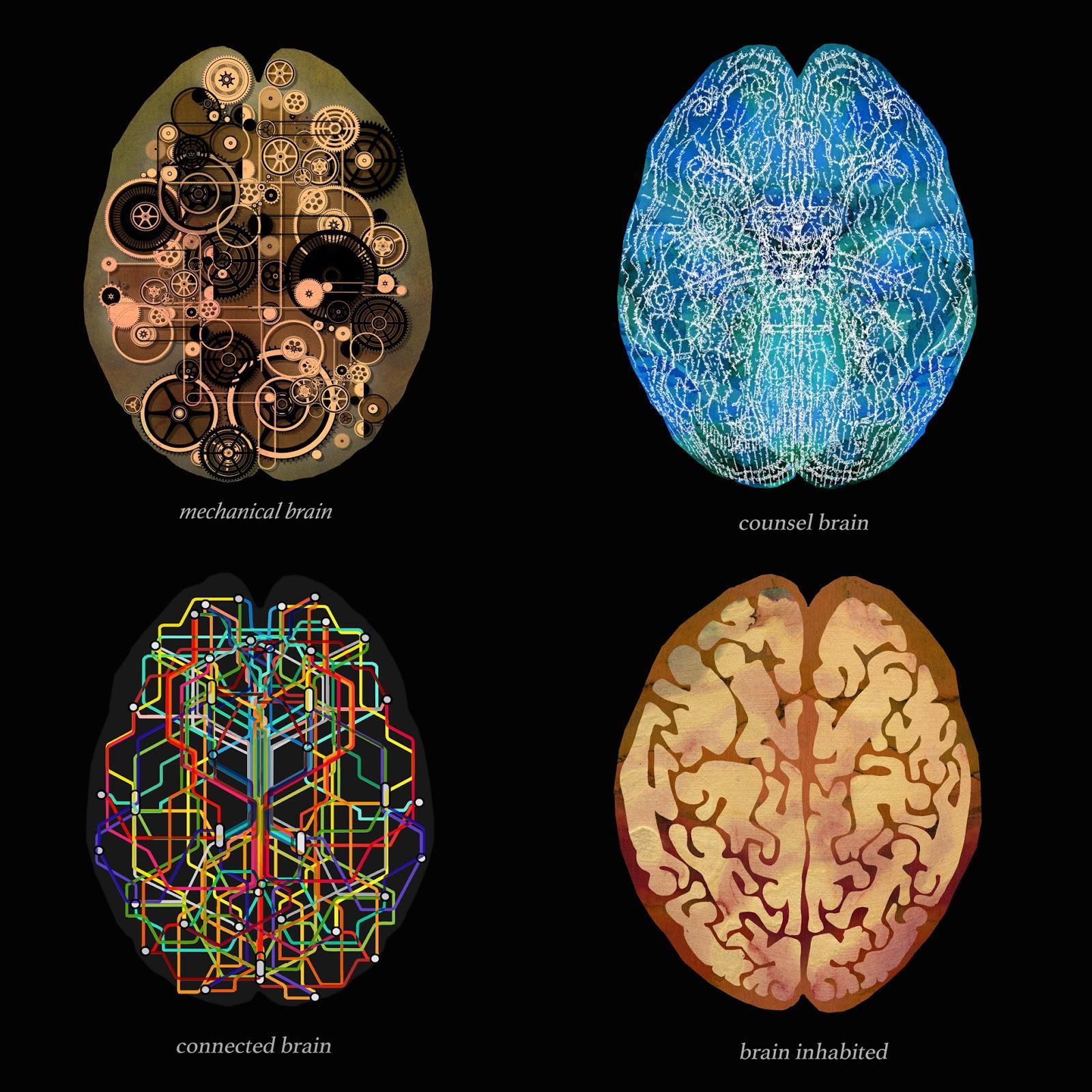 cerebro, mecánico, literal, comunicado, habitada