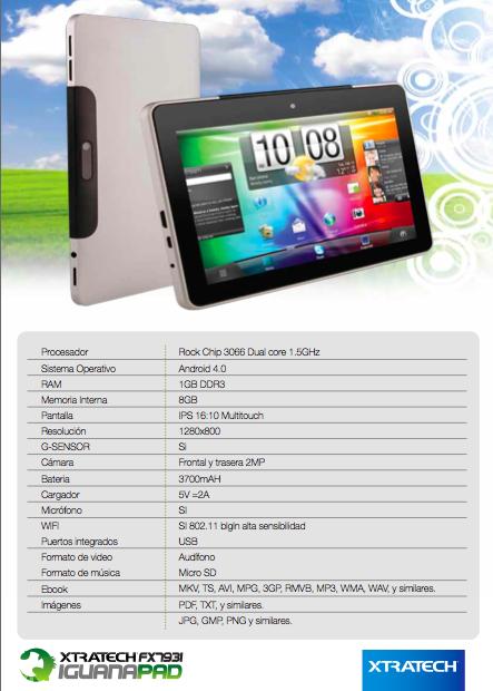 driver de tablet xtratech iguanapad