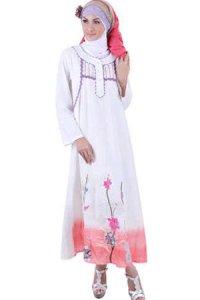 Najya Gamis LT12 - Broken White (Toko Jilbab dan Busana Muslimah Terbaru)