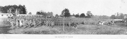 The 24th (Service) Battalion, Northumberland Fusiliers (1st Tyneside Irish) ready for an inspection by the General Officer Commanding 34th Division (from the John sheen Collection)