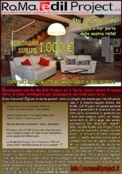 Stai cercando lavoro? Vuoi guadagnare da 1.000€ in su? Entra a far parte della nostra rete!!!