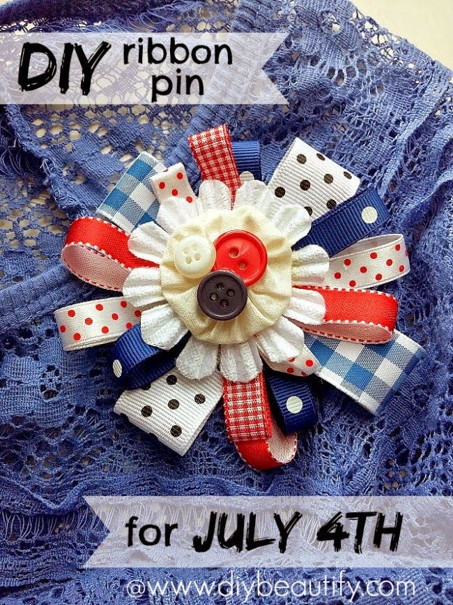 Make a patriotic pin to wear on July 4th