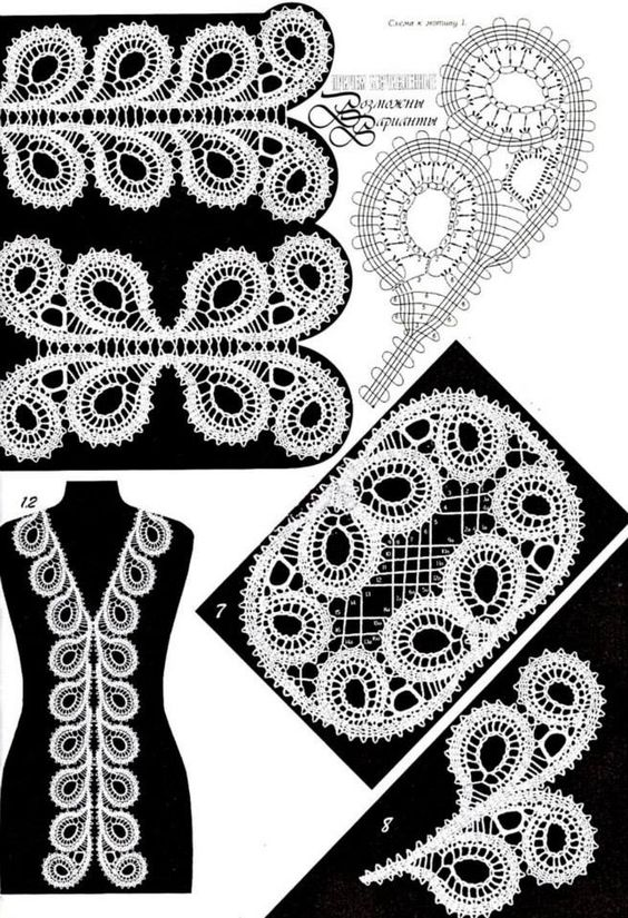 Patterns/Patrones: Irish crochet motifs/motivos irlandeses | Tejido ...