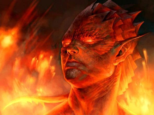 espiritus elementales del fuego salamandras