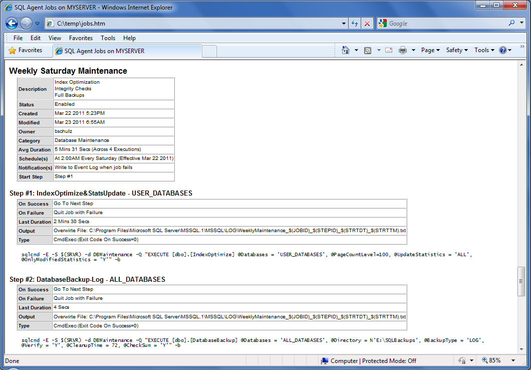 SELECT Blog FROM Brad.Schulz CROSS APPLY SQL.Server(): Documenting ...