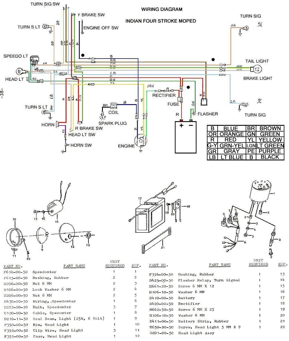 Dan U0026 39 S Indian Moped Restoration Blog  Colored Wiring Diagram