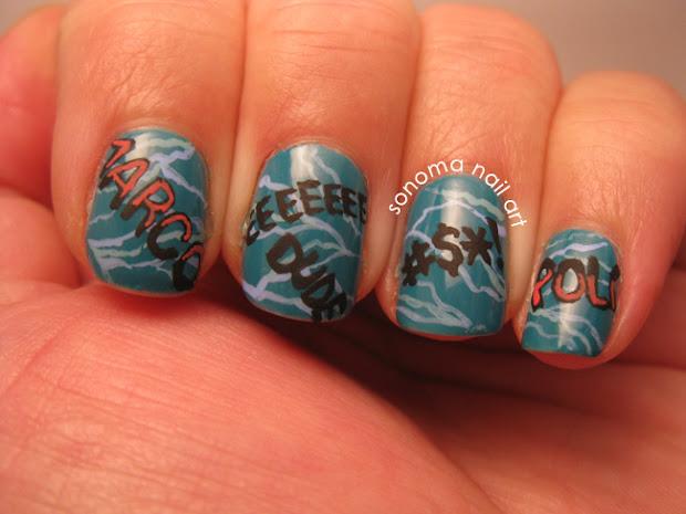 sonoma nail art pool party nails