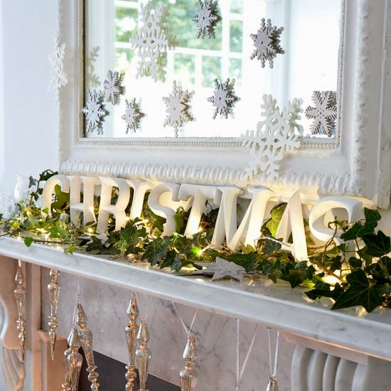 Decorating Ideas > Black And White Interiors White Christmas At Home ~ 212114_Door Decorating Ideas Fireplace