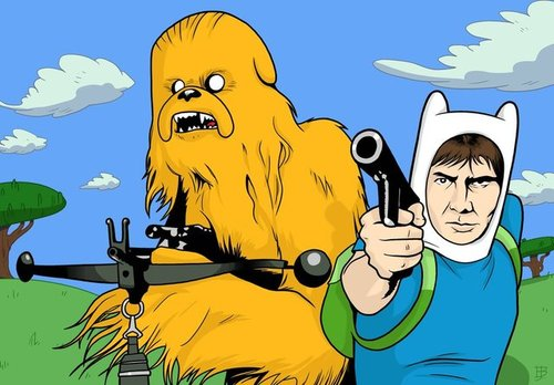MashUp Star Wars vs. Hora de Aventuras