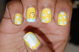 rubber duck nail, bath nails