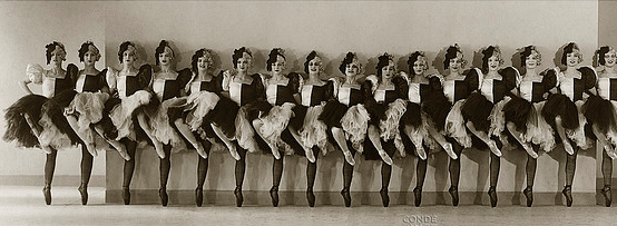 vintage dance girls