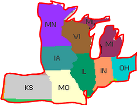 Map Of Midwest Regions Northwest Territory South Atlantic States - Midwest region map