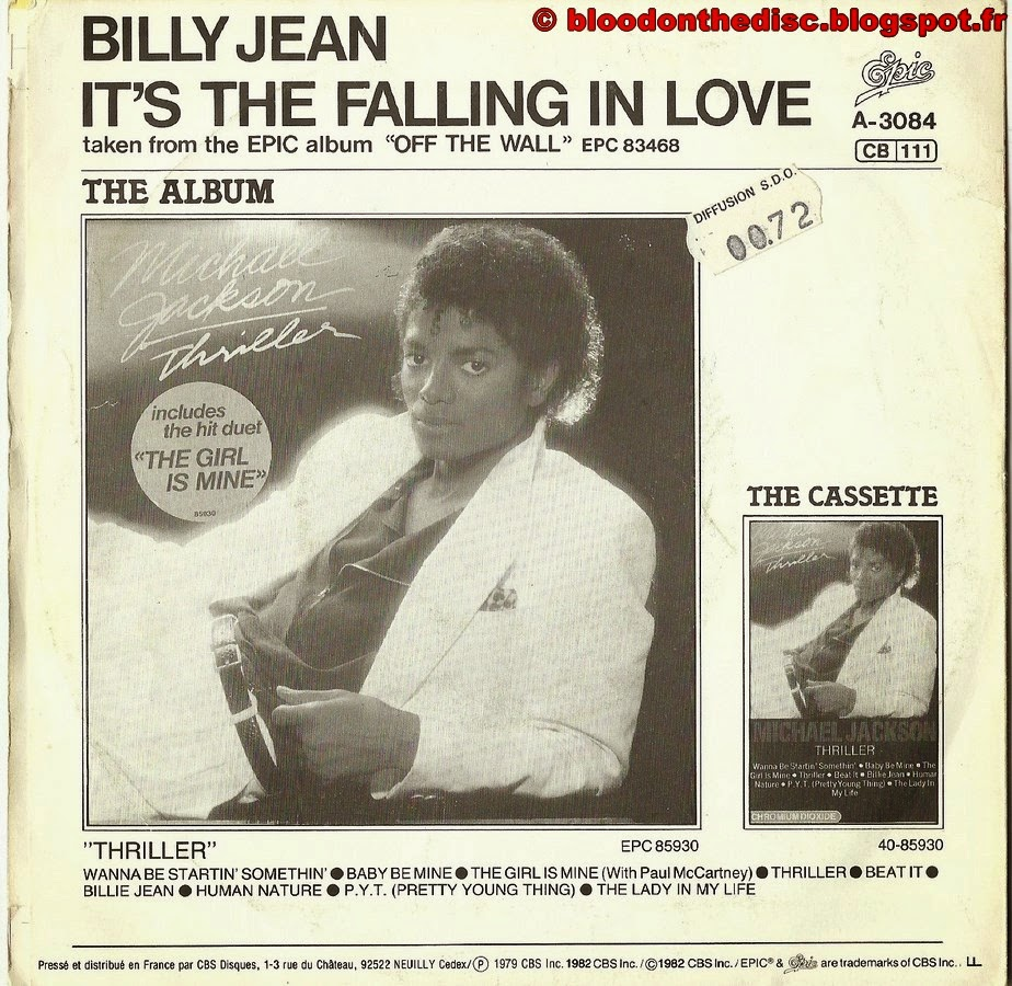 Billie Jean 45T Back Cover