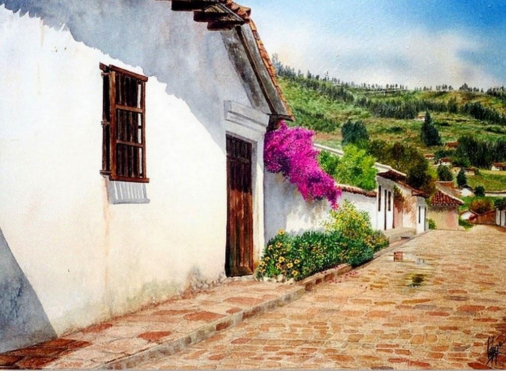 paisajes-con-casas-de-campos-cuadros-colombianos