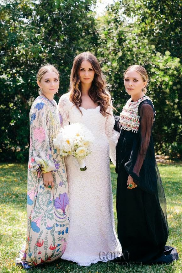 Mary-Kate and Ashley Olsen wedding dress bride