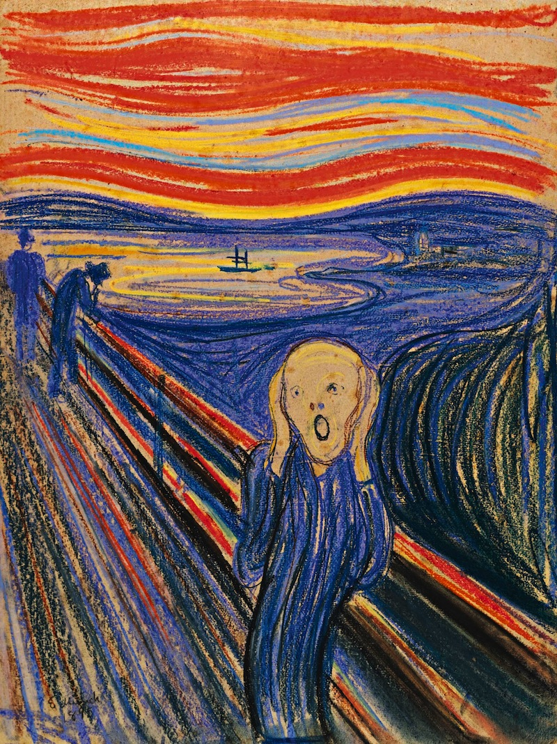 an analysis of the expressionist painting the scream by edvard munch A norwegian born expressionist painter, edvard munch lived a watercolors to painting is the scream, painted in 1893 edvard munch was born in a.