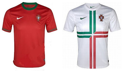Portugal Home+Away Euro 2012 Kits (Nike)