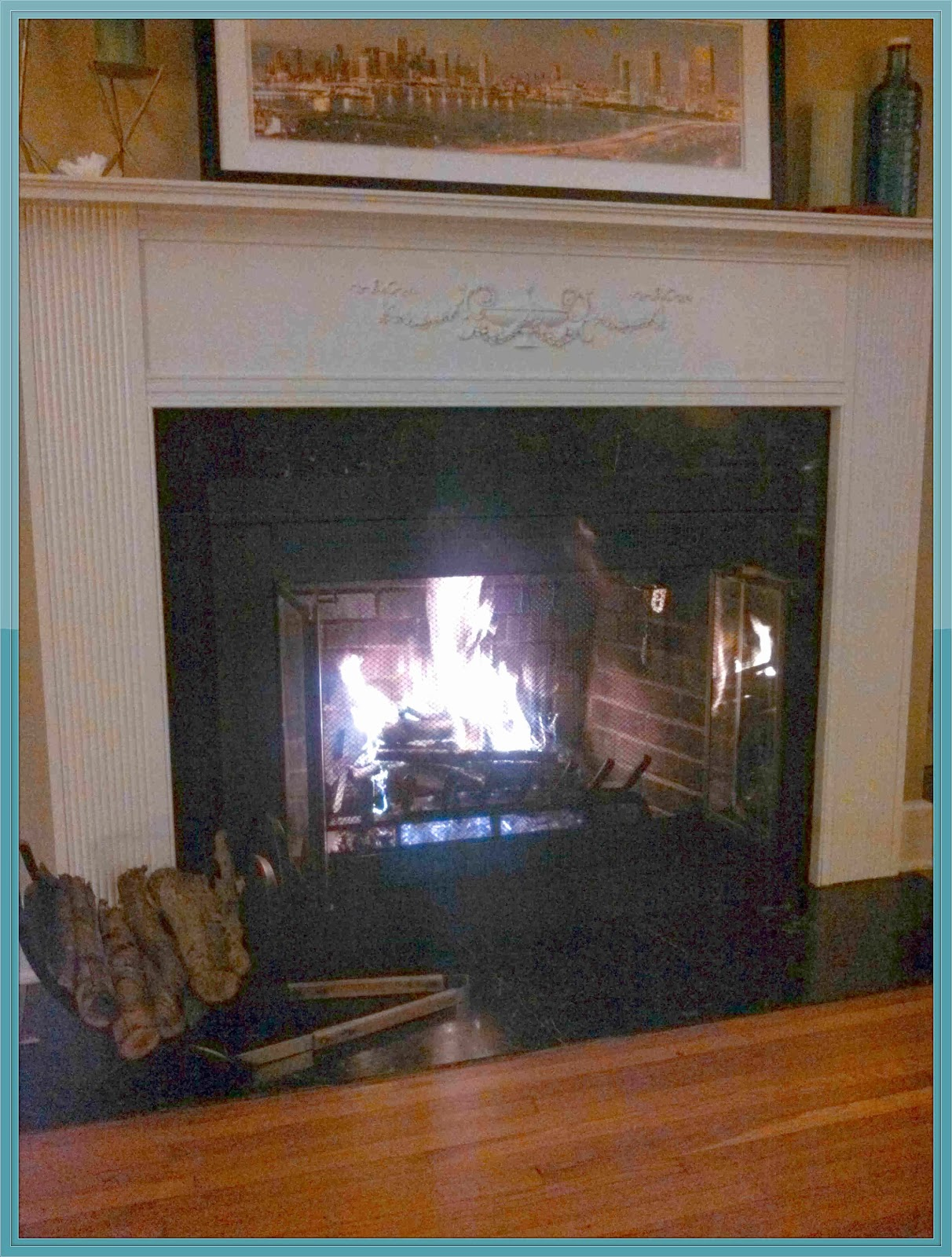 upscaled thrift store fireplace doors sweetwater style