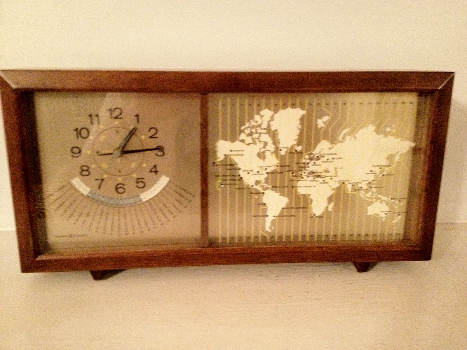 Mad for mid century mid century clock with world map mid century clock with world map gumiabroncs Choice Image