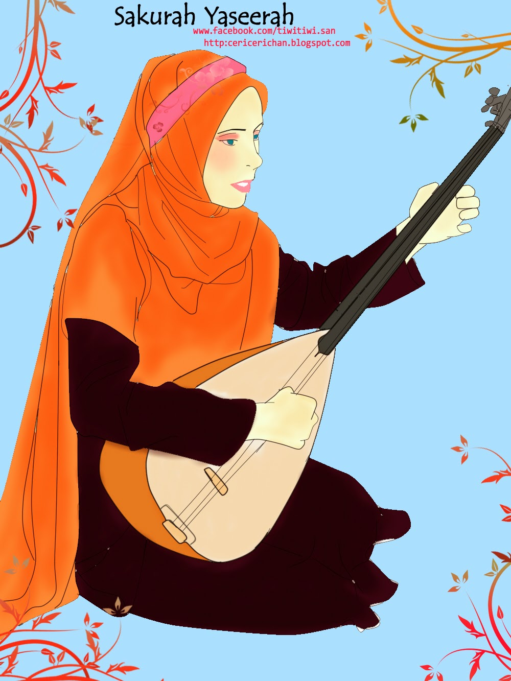 Shakurah Yaseerah, musik, wallpaper, animasi, SAI, DEBU