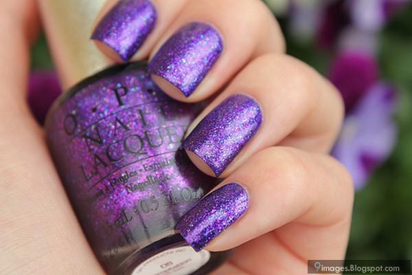 Girly Purple Nails Cute Purple Glitter Nails