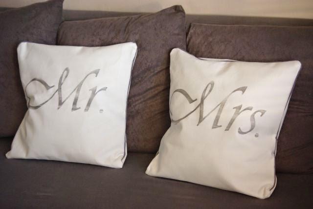 Poduszki dla niej i dla niego , prezent dla Młodej Pary , poduszki na łóżko