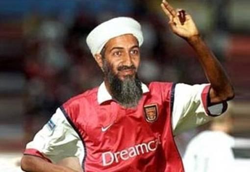 Osama Bin Laden terlihat di sini sebagai pemain sepakbola
