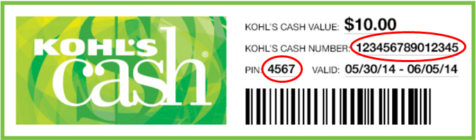 Kohl's Cash Coupon online purchase