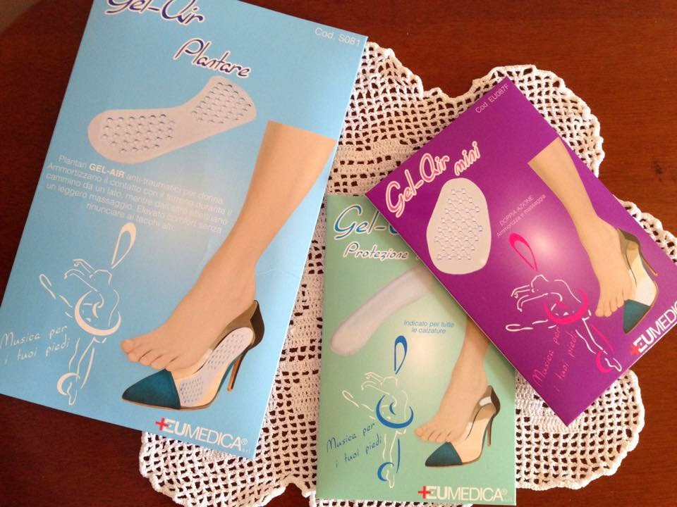 cuscinetti silicone per scarpe