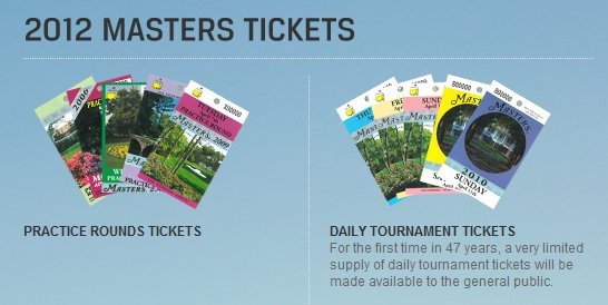 Wanna get tickets to the 2012 US Masters? | Aussie Golfer: The ...