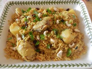 Nasi Briyani Ayam Resepi Mama