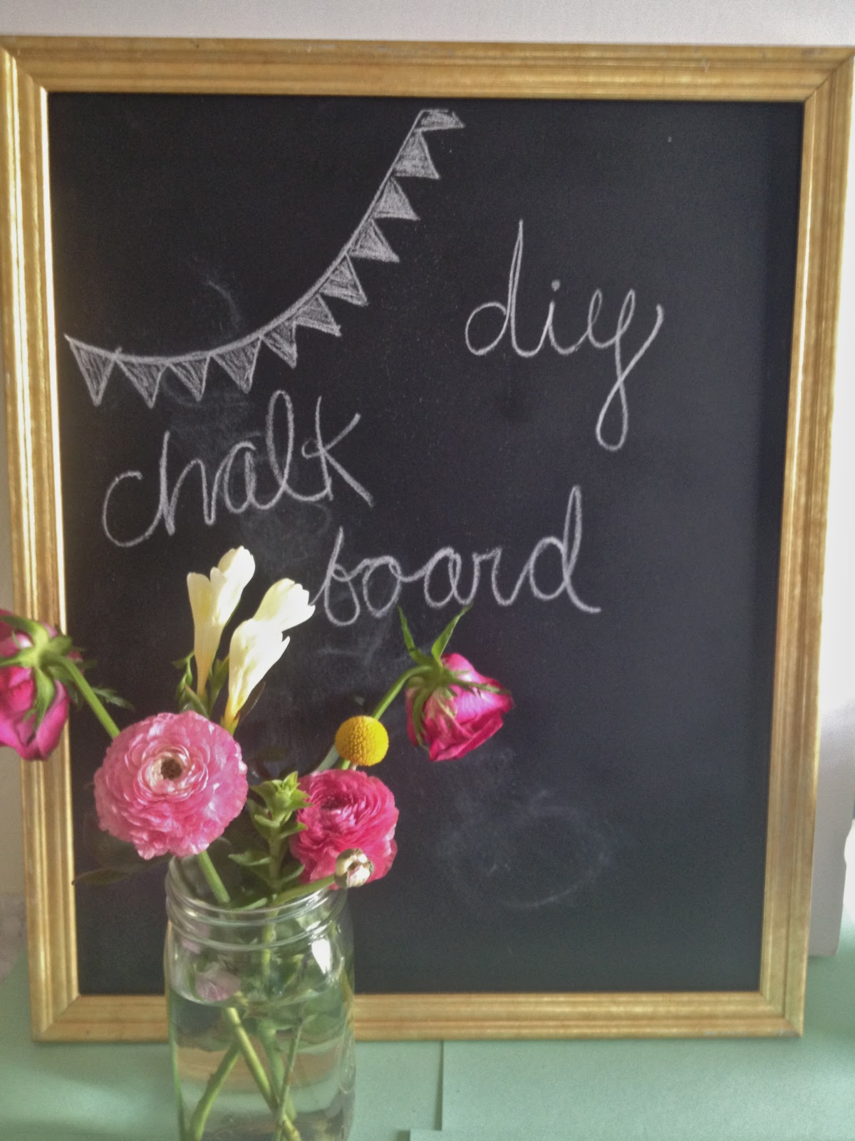 diy chalkboard from thrifted frame - Diy Chalkboard Frame