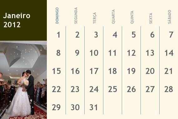 calendário personalizado para namorado