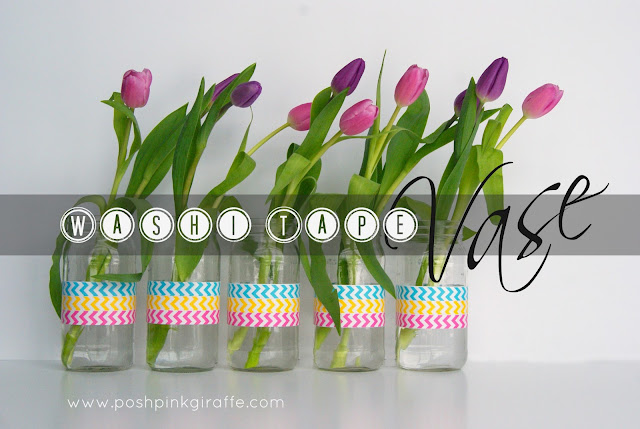 Washi Tape Jars by Posh Pink Giraffe