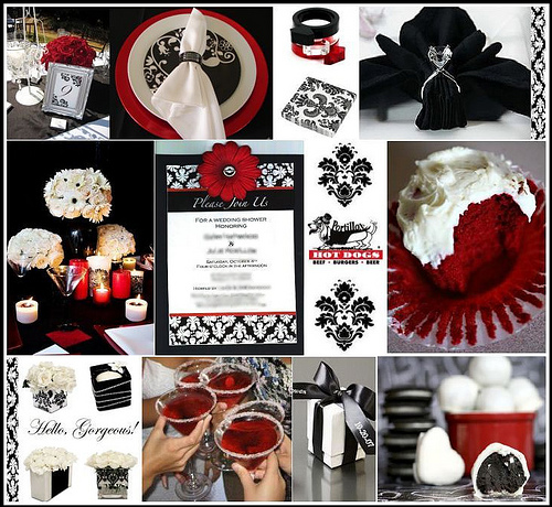Dark Red Wedding Decorations: The Diamond Ring: Color Themes For Your Wedding