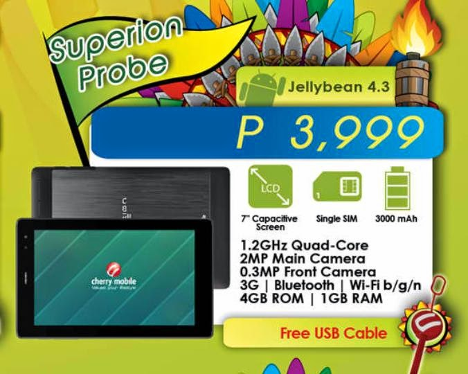 Cherry Mobile Superion Probe, Quad-Core Snapdragon-Powered Tablet For Php3,999