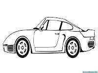 Mewarnai gambar mobil sport