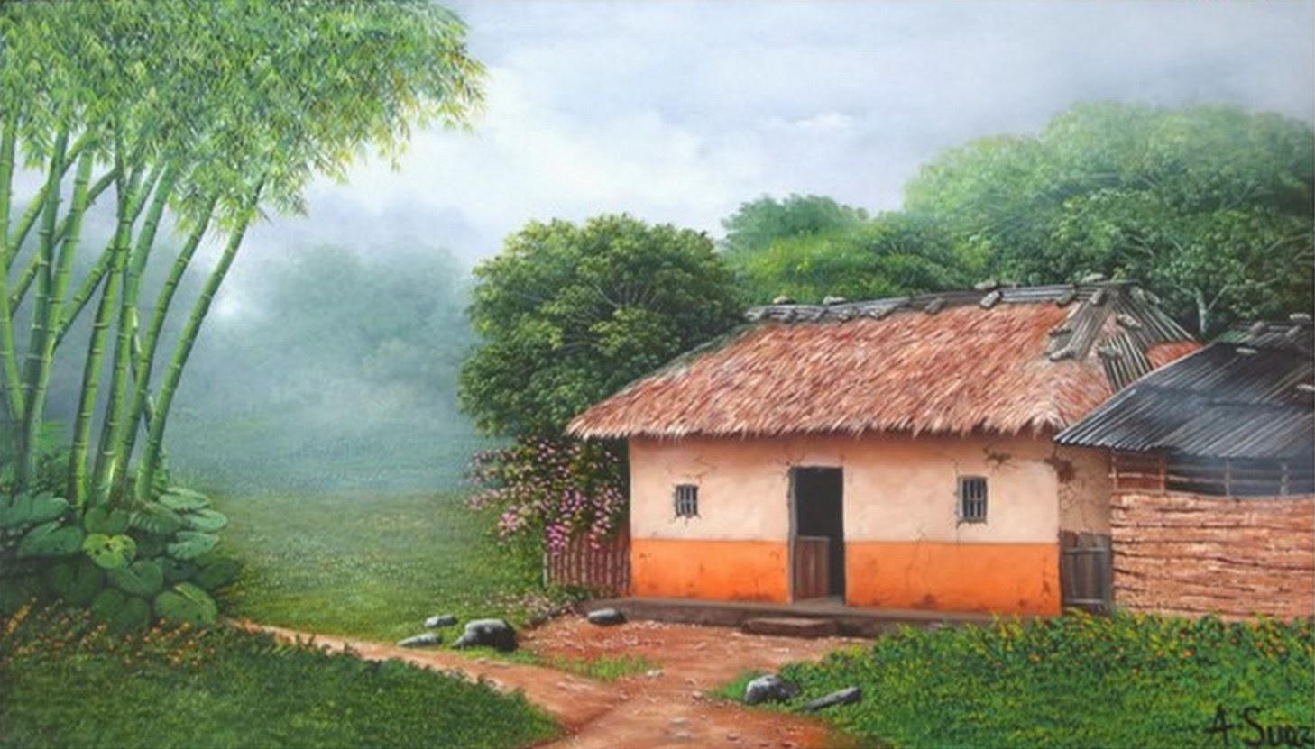 Pintura moderna y fotograf a art stica paisajes - Cuadros para pintar en casa ...