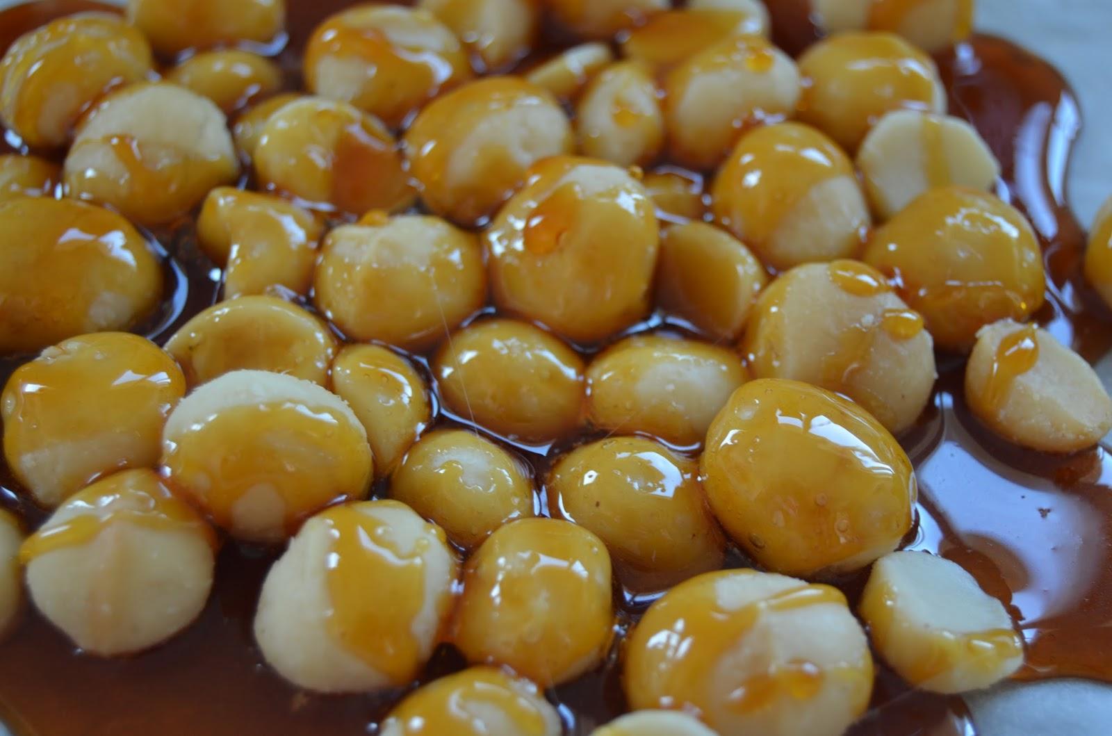 Nueces de macadamia garrapiñadas