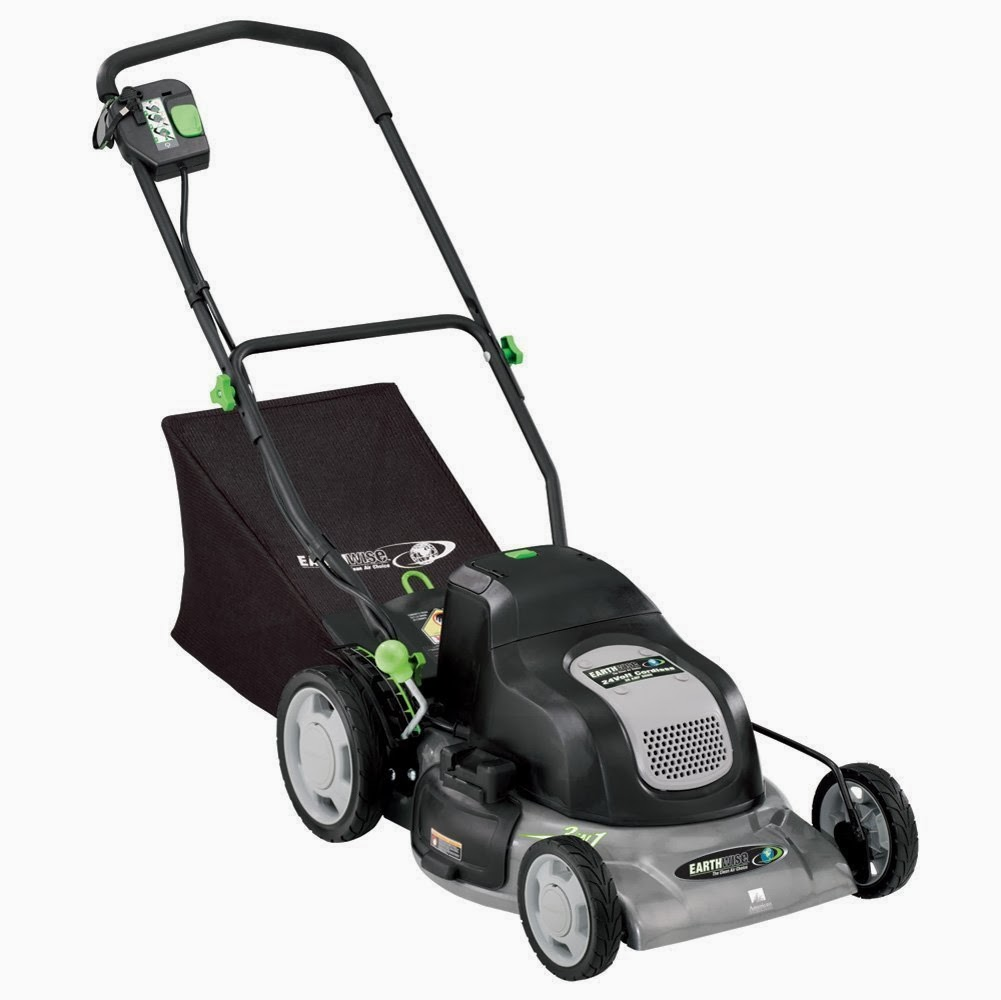 Reubens Lawn Care Electric Lawn Mower The Earthwise 20 Inch 24 Volt Cordless Lawn Mower