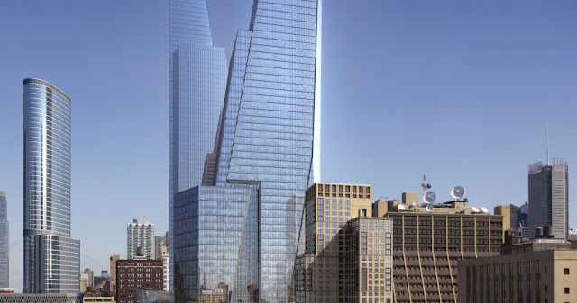 Photo of new office towers with surrounding buildings