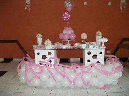 Decoração balão da mesa de doces