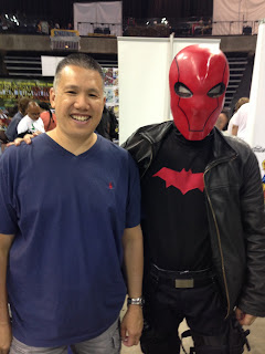 Red Hood Cosplay with comic artist Ron Lim